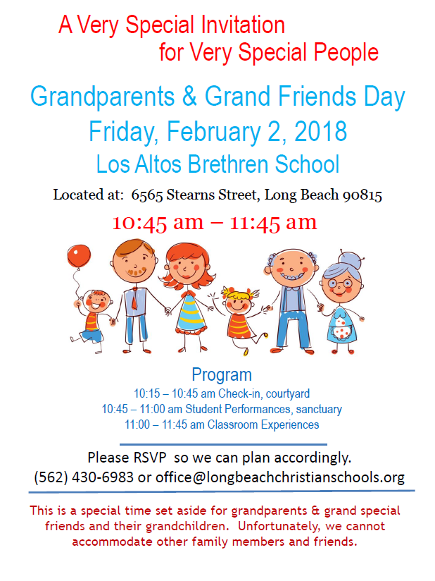 Grandparents and Grand Friends Day - Los Altos Grace Schools